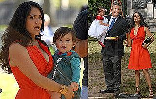Photos of Salma Hayek With Valentina on the Set of 30 Rock