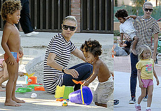 Photos of Heidi Klum with Johan, Henry and Leni in LA