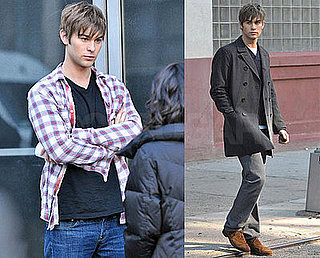 Photos of Chace Crawford on the Set of Gossip Girl in NYC