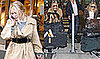 Photos of Mary-Kate and Ashley Olsen at Bon Marche Rive Gauche in Paris and at Heathrow Airport in London