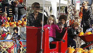 Photos of Heidi Klum, Leni Klum, Henry Samuel, and Johan Samuel at the Pumpkin Patch in LA