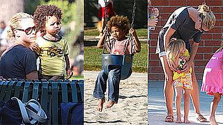 Photos of Heidi Klum With Her Three Kids Henry, Johan and Leni at the Park in LA