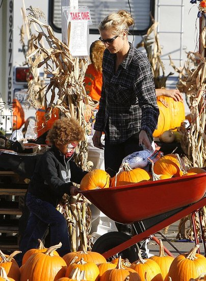 Heidi and the Kids at the Pumpkin Patch