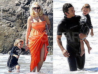 Photos of Kingston Rossdale On the Beach with Gwen Stefani, Gavin Rossdale, Zuma Rossdale, Pierce Brosnan
