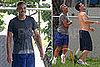 Photos of George Clooney Playing Basketball in Puerto Rico