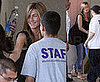 Photos of Jennifer Aniston at John Mayer&#039;s Birthday Party and Visiting Cahuenga Elementary School