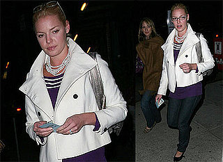 Photos of Katherine Heigl Wearing Glasses Out to Dinner With a Friend in Hollywood