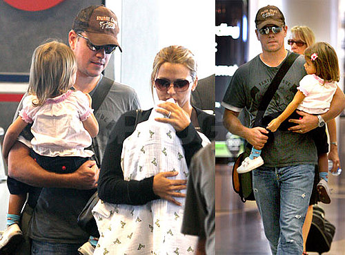 Matt Damon Lands in LA With His Ladies