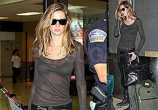 Photos of Gisele Bundchen at LAX, Amid Rumors of Engagement to Tom Brady