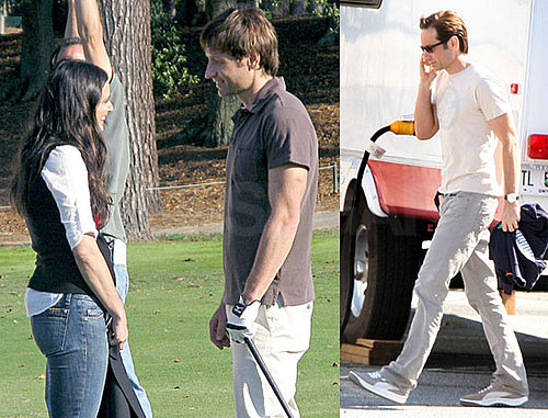 Photos of David Duchovny and Demi Moore Filming the Joneses in Atlanta, David is Suing the Daily Mail Over Tennis Affair Rumor