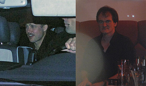 Photos of Brad Pitt and Quentin Tarantino in Berlin to Film Inglorious Bastards