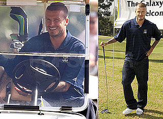 Photos of David Beckham in LA playing golf