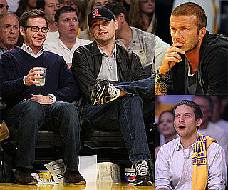 Photos of Leonardo DiCaprio, David Beckham, Tobey Maguire, and Other Celebrities at LA Lakers Game