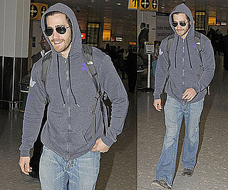Photos of Jake Gyllenhaal at Heathrow Airport in London