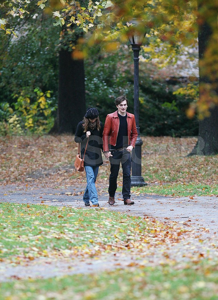 Keira and Rupert Walking Through NYC