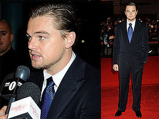 Photos of Leonardo DiCaprio Premiering Body of Lies in London, Speaking About Passing on Sex Symbol Status to Zac Efron
