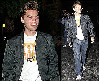 Photos of Emile Hirsch Walking in LA