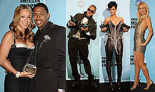 Photos of Chris Brown, Rihanna, Paris Hilton at the 2008 American Music Awards Press Room