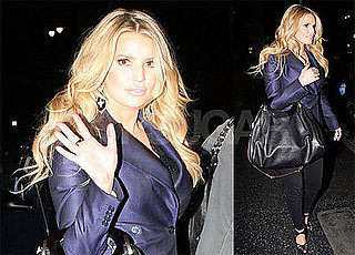 Photos of Jessica Simpson at Katsuya Restaurant, Speaking to Ellen About Ashlee Simpson Inducing Labor