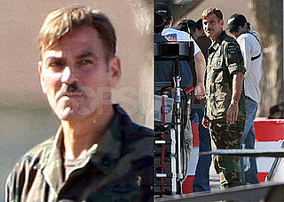 Photos of George Clooney Wearing Camouflage on the Set of Men Who Stare At Goats