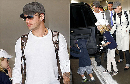 Photos of Ryan Phillippe, Abbie Cornish, Ava Phillippe, Deacon Phillippe at LAX After Thanksgiving