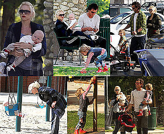 Photos of Gwen Stefani, Gavin Rossdale, Kingston Rossdale, Zuma Rossdale Playing at the Park
