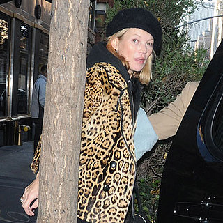 Kate Moss Leaves Her NYC Hotel