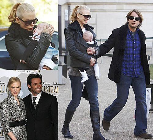 First Photos of Nicole Kidman With Baby Sunday Urban in Paris and Premiering Australia With Hugh Jackman