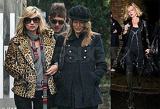 Photos of Kate Moss Arriving to Watch Britney Spears on the X Factor