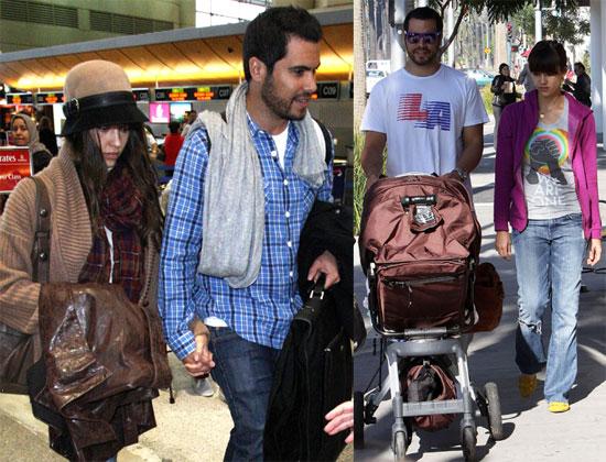 Jessica Alba and Cash at Airport