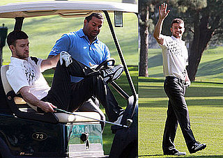 Photos of Justin Timberlake Playing Golf With Carlton From the Fresh Prince of Bel-Air