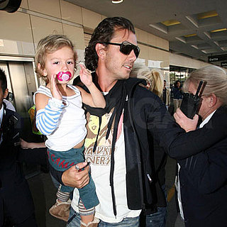 Gwen Stefani, Gavin Rossdale, Kingston Rossdale and Zuma Rossdale at LAX