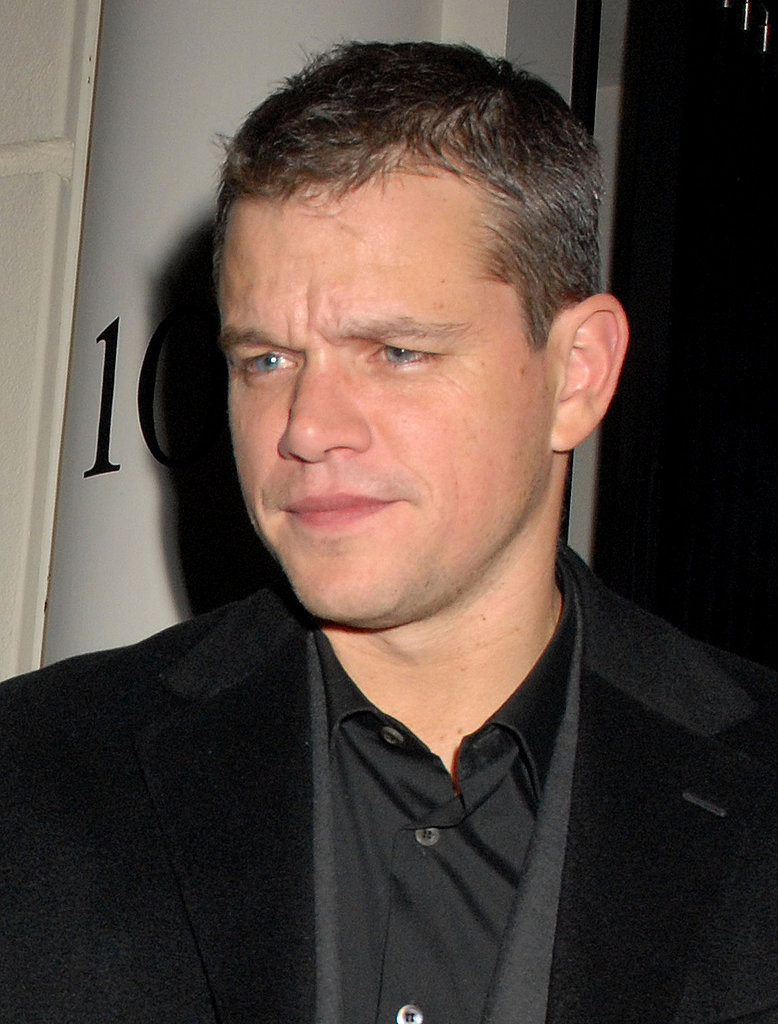 George Clooney and Matt Damon Party in London