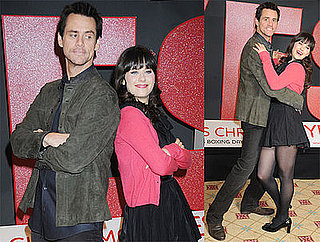 Photos of Jim Carrey and Zooey Deschanel at a Photo Call For Yes Man