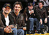 Photos of Leonardo DiCaprio and Lukas Haas at the Lakers Game