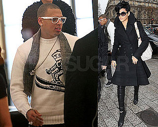 Rihanna and Chris Wear Winter White in Paris