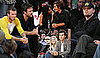 Photos of David Beckham, Leonardo DiCaprio, Gwen Stefani, Zac Efron, Vanessa Hudgens at Lakers-Knicks Game in LA