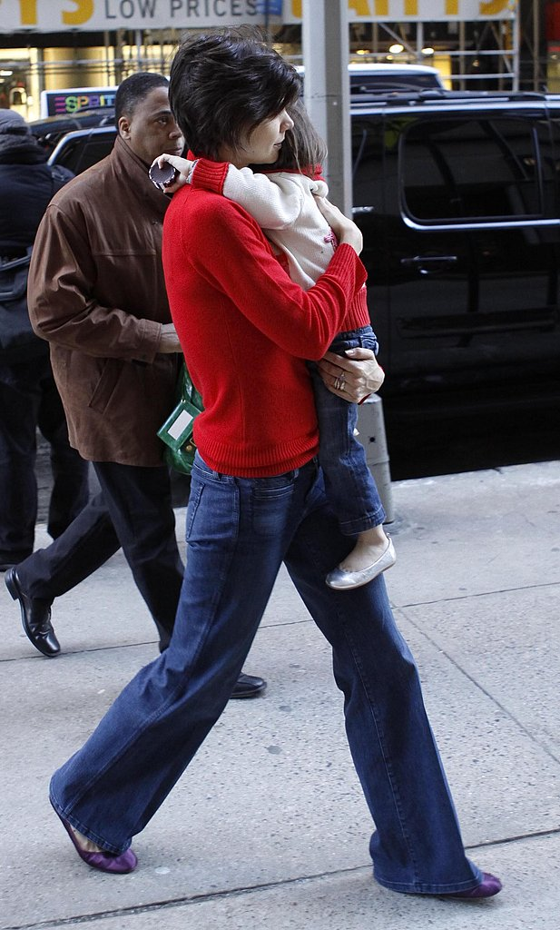 Katie and Suri at The Gap