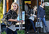 Photos of Dakota Fanning Shopping in Leather