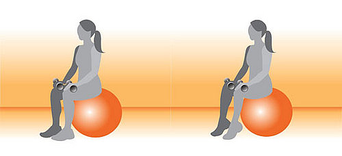 Exercise Ball Exercise for Calves