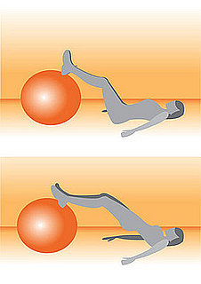 Get on the Ball: Straight Leg Bridge With Ball