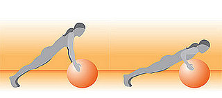 Get on the Ball: Balancing Push-Up