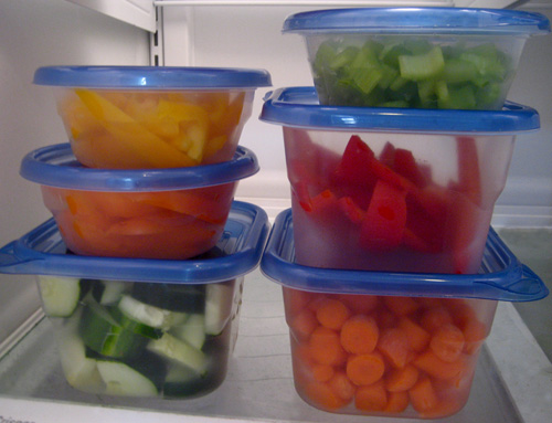 Healthy Eating Tip: Store Precut Veggies in the Fridge
