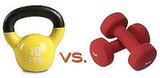 You Asked: Kettlebells vs. Dumbbells