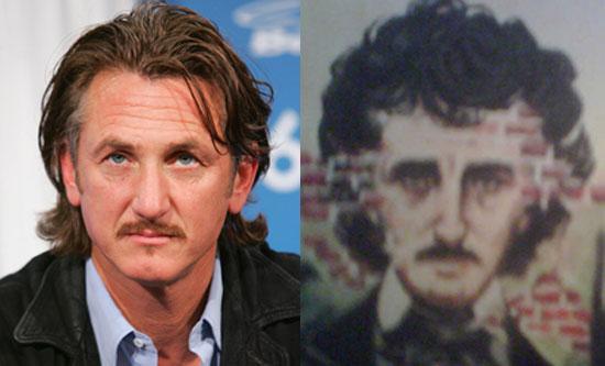 Sean Penn and Edgar Allan Poe