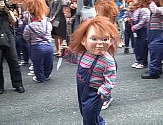 Chucky Impersonators Crash Jessica Simpson Concert