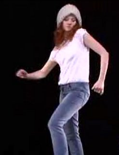 Groovy Dancing Girl For Etam Denim