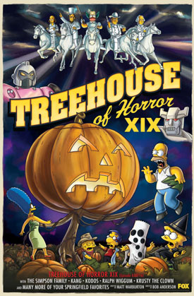 The Simpsons Parodies Mad Men, Charlie Brown on Treehouse of Horror