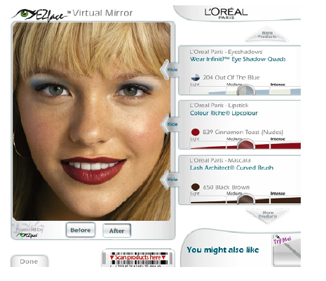 "IBM Debuts ""Virtual Mirror"" Kiosks For Hair and Makeup Help"