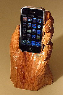 Wooden Hand iPhone Holder: It Doesn't Get Much Weirder